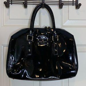 Kate Spade black patent Melinda bag